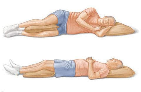 حرکات اصلاحی- خوابیدن