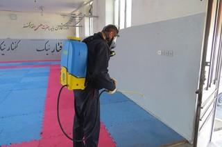 سم پاشی ،ضدعفونی و مه پاشی اماکن ورزشی قائمشهر