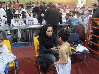 ورزشکاران تکواندو کار استان غربالگری پزشکی ورزشی شدند