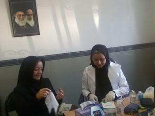 اجرای طرح غربالگری فشار خون و دیابت در بین بانوان ورزشکار استان