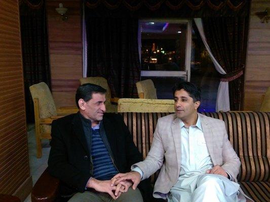 نشست صمیمی دکتر نوروزی رییس فدراسیون پزشکی ورزشی با مدیرکل ورزش وجوانان استان