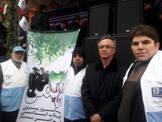 حضور پر شور هیأت پزشکی ورزشی استان تهران، در راهپیمایی باشکوه ۲۲ بهمن۹۵