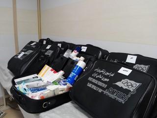 توزیع کمکهای اولیه به هیاتهای پزشکی ورزشی شهرستانها
