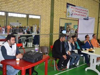 بازدید رئیس هیات سمنان از مسابقات لیگ استانی