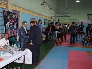 بازدید رئیس هیات پزشکی ورزشی از مسابقات لیگ استانی