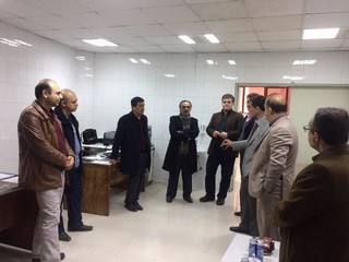بازدید ریاست فدراسیون پزشکی ورزشی و هیات همراه از محل فیزیوتراپی و دفتر هیات پزشکی استان