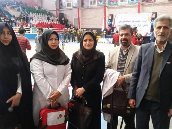 پوشش پزشکی مراسم افتتاحیه بیست و هشتمین دوره مسابقات ورزشی دانش آموزان دختر استان خراسان رضوی