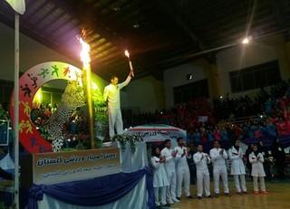 حضور اعضاء هیات پزشکی ورزشی در مراسم افتتاحیه دومین المپیاد ورزشی گلستان