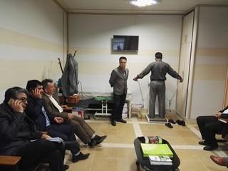 بازدید سعید درخشنده نماینده کنفدراسیون والیبال آسیا از هیات پزشکی