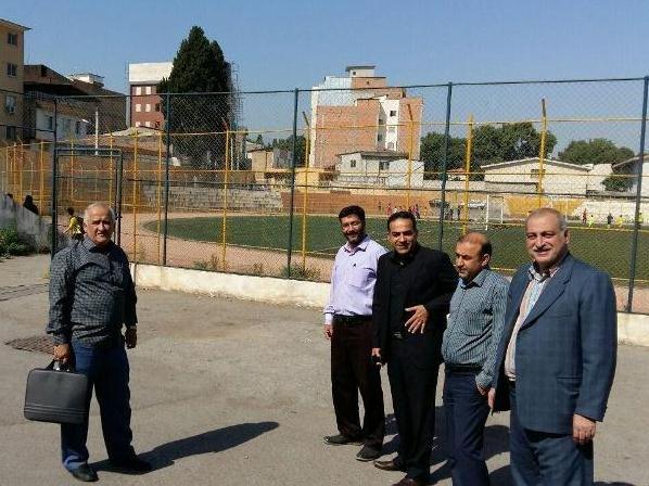 بازدید مسئولین هیات از زمین محل احداث مجتمع اداری و درمانی پزشکی ورزشی گلستان