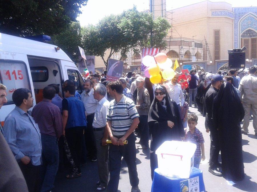 ایستگاه سلامت در راهپیمایی روز جهانی قدس در تبریز برپا شد