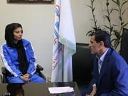 حضور سارا عبدالملکی در دفتر ریاست فدراسیون پزشکی ورزشی