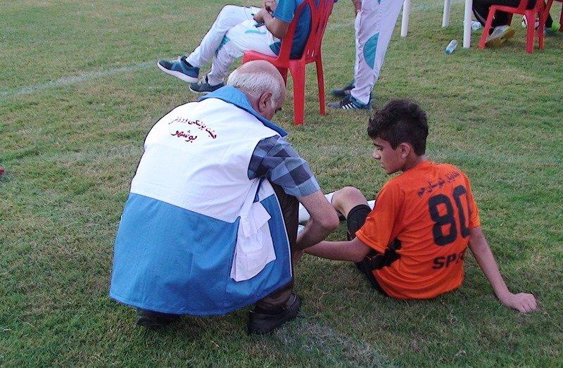 پوشش پزشکی فستیوال مدارس فوتبال بوشهر