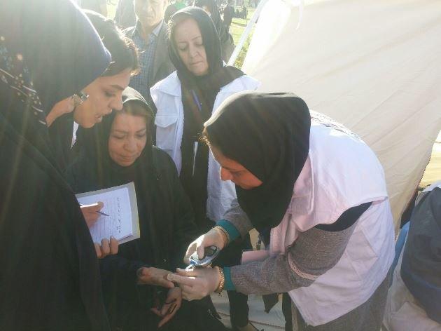 ارائه خدمات پزشکی در همایش بزرگ پیاده روی آذربایجان غربی