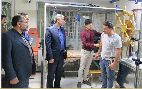 بازدید مدیرکل ورزش و جوانان خراسان شمالی از مرکز فیزیوتراپی