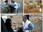 حضور دکتر حیدریان در مناطق زلزله زده استان کرمانشاه