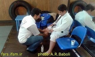 پوشش پزشکی مسابقات استان فارس