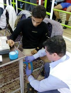 پوشش پزشکی مسابقات کشتی نوجوانان کشور-سیرجان