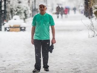 ورزش همگانی در برف
