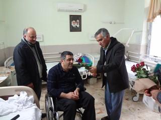 دکتر دهقان از جانبازان سرافراز دفاع مقدس عیادت کرد