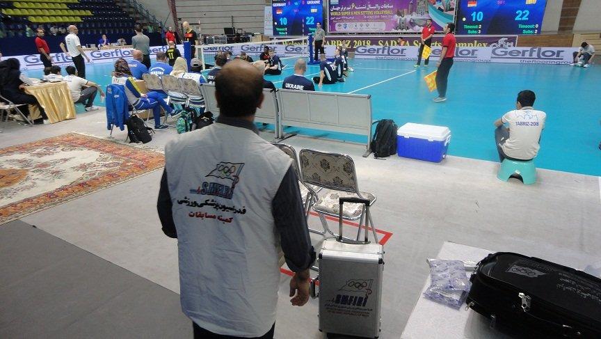 بسیج کلیه امکانات در جهت ارایه خدمات پزشکی ورزشی به شرکت کنندگان در مسابقات بین المللی والیبال نشسته