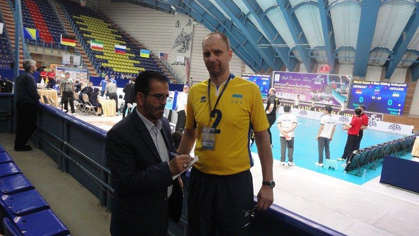ماکسیم یولی مدیر تیم والیبال نشسته اوکراین : ارایه خدمات پزشکی در مسابقات بسیار عالی بود