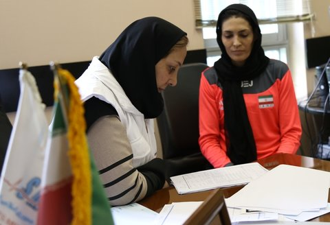 Filling medical records for 300 national athletes of I.R of IRAN