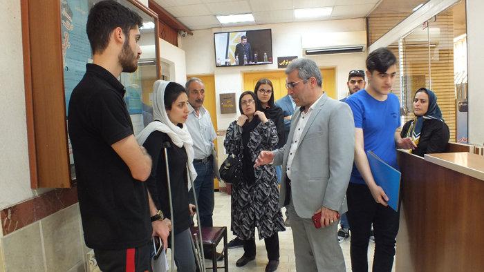 بازدید دکتر اسدپور از بخش ارتوپدی هیات پزشکی ورزشی گیلان
