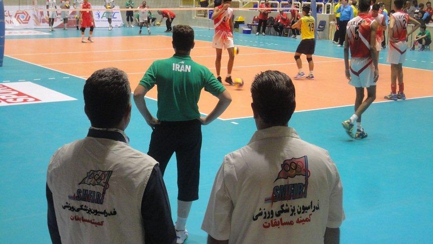 مسابقات والیبال قهرمانی نوجوانان آسیا در تبریز تحت پوشش پزشکی قرار گرفت