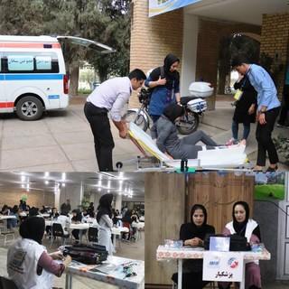 پوشش پزشکی المپیاد ورزشی دانشجویان کشور در شیراز
