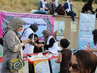 هیأت پزشکی قزوین در اولین جشنواره بزرگ ورزشی بانوی کرامت غرفه برپا کرد