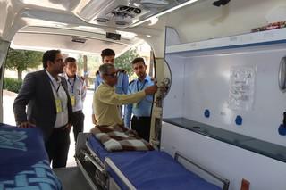 بازدید از پایگاه پزشکی ورزشی در المپیاد ورزشی دانشجویان