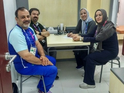 Dr.Hakemi; we are ready to present our services in the venue of tournament