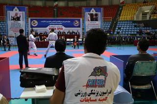 پوشش پزشکی مسابقات بین المللی کاراته در ارومیه