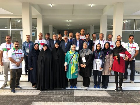 Head of National Olympic committee, ambassador of the Islamic republic of Iran in Indonesia & supervisor of Iran sport in 2018 Asian Games visited the village of the group.