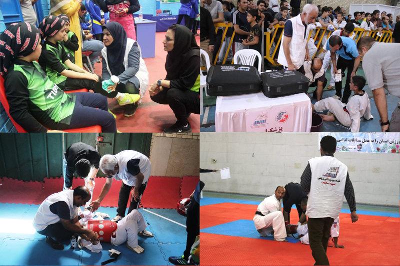 پوشش پزشکی مسابقات استان فارس/ شهریور۹۷