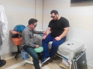 سعید علی حسینی  در هیات پزشکی ورزشی استان اردبیل تحت درمان قرار گرفت