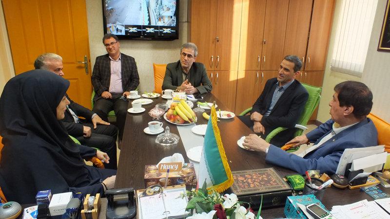 دیدار رئیس فدراسیون پزشکی ورزشی ایران با مدیرکل ورزش و جوانان استان گیلان