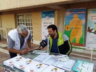 به مناسبت هفته تربیت بدنی، هیأت پزشکی یزد ایستگاه رایگان سلامت برپا کرد