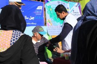 ایستگاه تندرستی هیات پزشکی ورزشی استان در محل ورزش صبحگاهی زنجان بر پا شد .