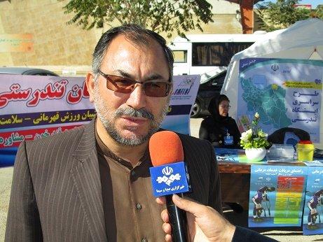 ایستگاه تندرستی با حضور رئیس هیات پزشکی ورزشی خراسان شمالی