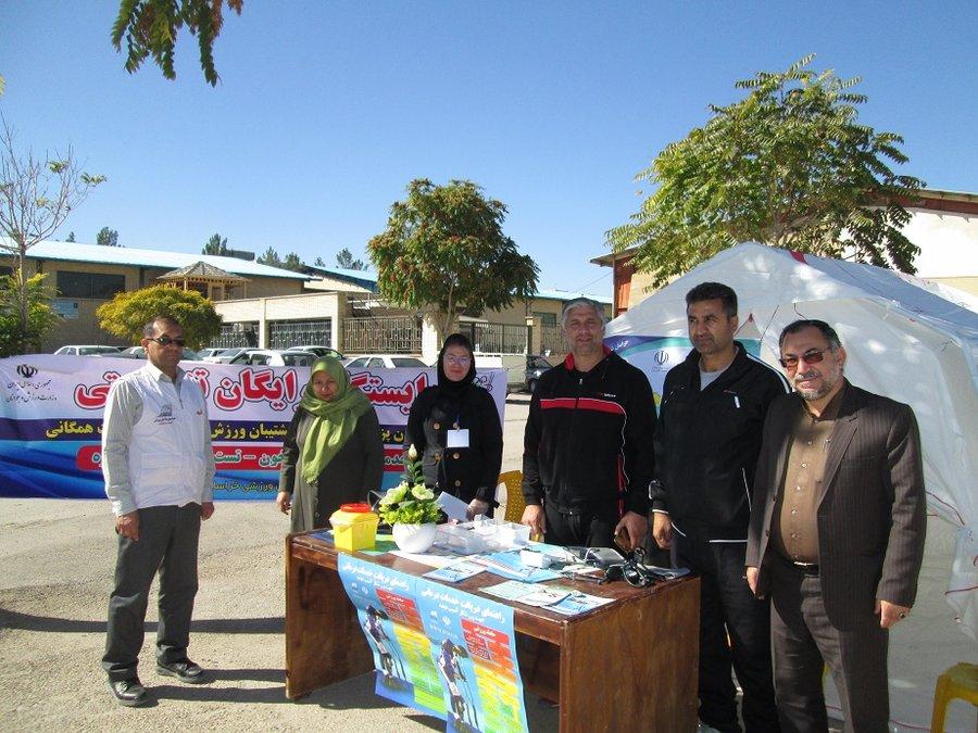 بازدید مدیر کل ورزش و جوانان خراسان شمالی از ایستگاه تندرستی هیات پزشکی ورزشی