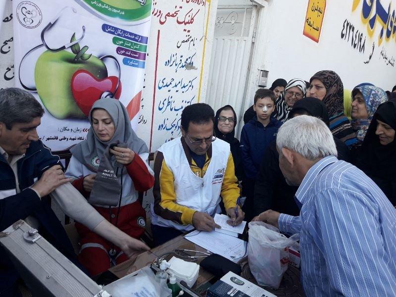 به مناسبت هفته تربیت بدنی طرح برپایی ایستگاه رایگان سلامت در استان مازندران برگزار شد.