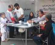 استقبال گسترده از ایستگاه های تندرستی هیأت پزشکی ورزشی استان تهران در شیرودی و استقلال جنوب مورخ ۲۷و۹۷/۷/۲۶