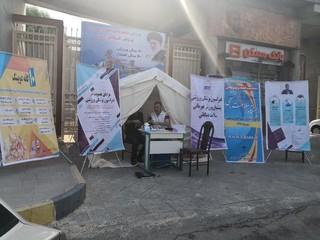 برپایی ایستگاه سلامت سنجی در خوزستان