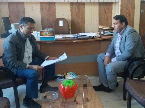 نشست با رئیس ورزش و جوانان شهرستان کرمان