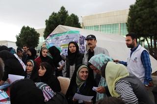 استقبال با شکوه شهروندان زنجانی از ایستگاه تندرستی
