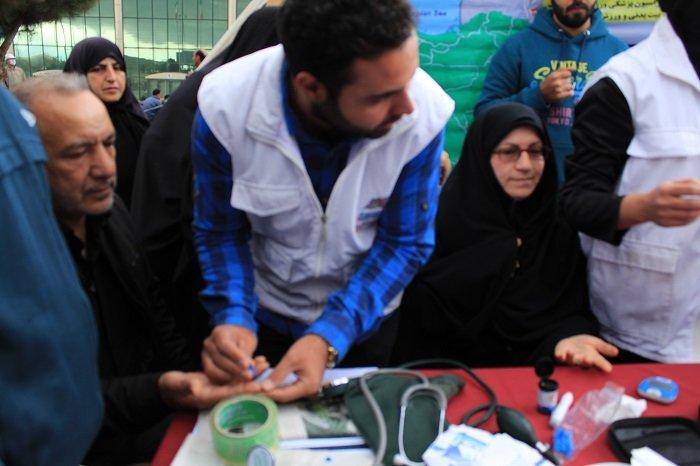 گزارش تصویری ایستگاه تندرستی همگانی پیاده روی  استان زنجان