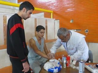 پوشش پزشکی مسابقات المپیاد بسکتبال - چهار محال وبختیاری