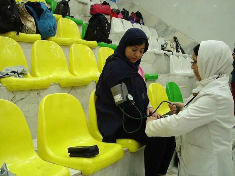 گزارش تصویری / پوشش پزشکی المپیاد استعدادهای برتر اسکواش در اراک